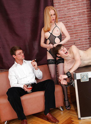 BDSM fuck of a young girl Daikiri pleasing two guys at the same time