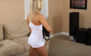 Undressing blondie Ally Kay is showing everything she has got