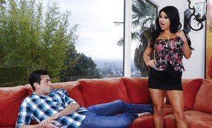 Huge dagger is penetrating tight pussy of a Latina babe Angelica Taylor