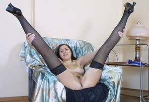 Amateur girl Anna is ready to blow you away with her new stockings