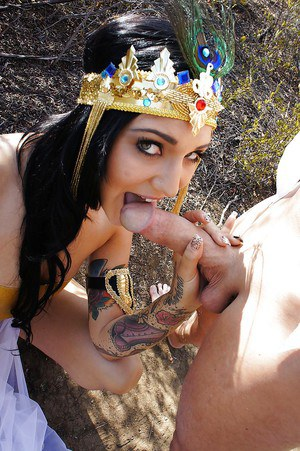 Aimee Black riding cock with no shame and fucking outside