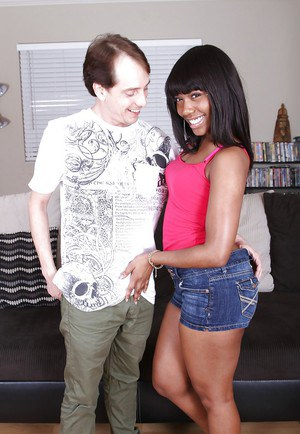 Fantastic handjob done by a wonderful clothed black girl