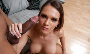 Big tits brunette wife Jennifer Dark is enjoying an hardcore sex