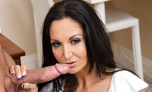 Ava Addams prefers swallowing big cocks after a hard day of work