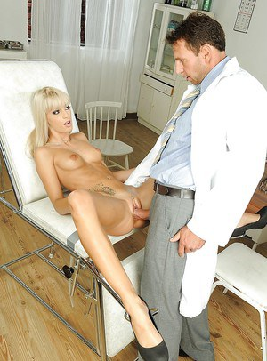 Blonde babe Erica Fontes is pounded hard by her local doctor