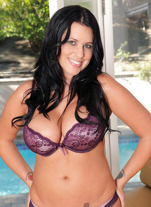 Chic fatty Lacie James posing outside and playing with her boobies