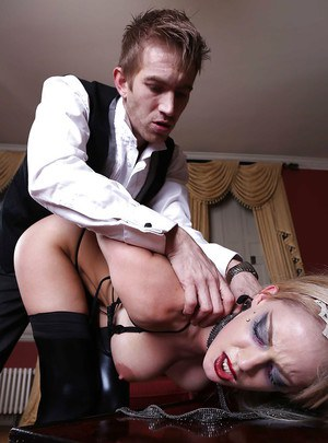 Big tit pornstar Loulou is penetrated wearing hardcore stockings