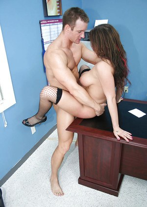 Jolly girl with hot forms Whitney Stevens wants to fuck with her boss