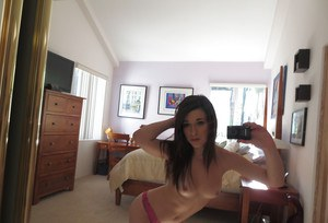 Beautiful teen Lacey Channing making photos without clothes