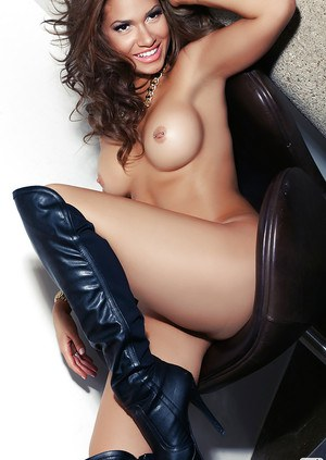 Centerfold babe Reby posing and undressing her awesome body and ass