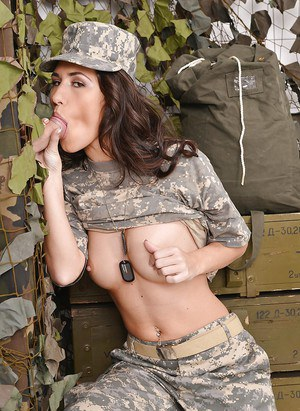 Uniformed babe Jess West has her mouth fucked in a gloryhole room