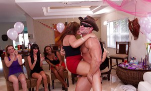 CFNM action with horny clothed bitches having loads of fun on a party
