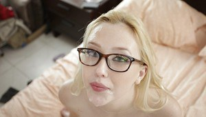 Samantha Rone is enjoying an hardcore ass fucking while in glasses