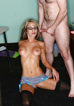 Sarah Jessie teaches a naughty student how to fuck and lick pussy