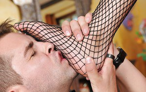 Stockings model in a hot dress Ariana Marie is having an hardcore sex