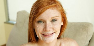 Wonderful close up pussy licking action with a sexy redhead Alex Tanner