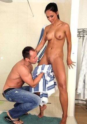 Fit cowgirl Victoria Sweet takes part in an interracial fuck