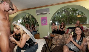 CFNM party after wedding with horny girls in tight jeans doing blowjobs