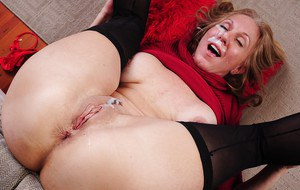 Mature mom Jenna has her ass pounded hard with a big cock of her man