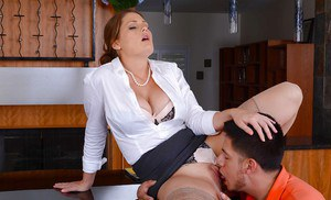Milf teacher Allison Moore has her cougar cunt pounded in close up