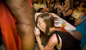 CFNM party with wild ladies doing blowjobs and handjobs to strippers