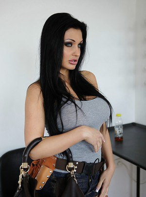 Aletta Ocean demonstrates her European big tits and long legs