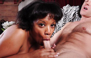 Mature Fatty Betty has her Ebony big tits fucked with a cock