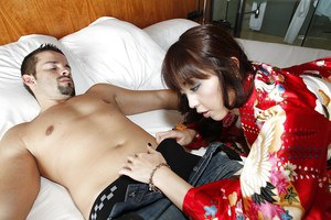 Amazing blowjob done by a tiny tits Asian girlfriend Marica Hase
