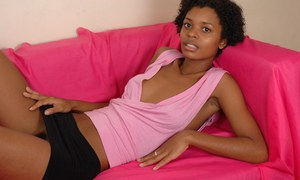 Amateur teen Kiara has her Ebony ass and pussy shown in close up