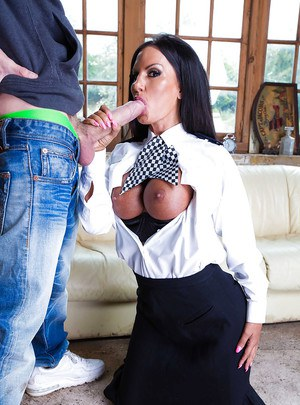 Big tits milf Elicia Solis gets nailed hardcore in a uniform
