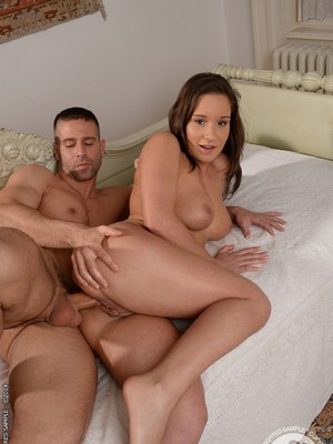 European girlfriend Myrna Joy has her tight asshole pounded hardcore