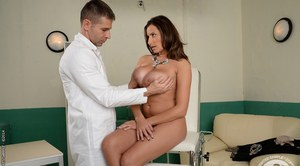 European milf Sensual Jane enjoys ass fucking with her doctor