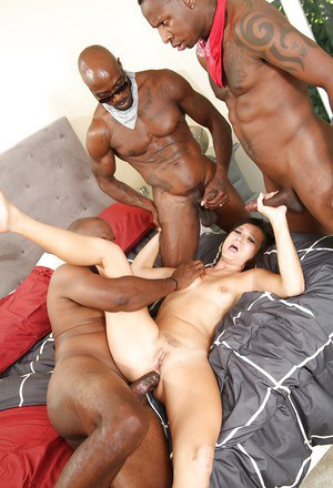 Gangbang action with a wonderful Asian milf Cece Stone and black men