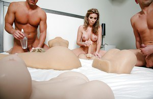 Threesome fuck with milf chick Courtney Cummz and hot sex toys