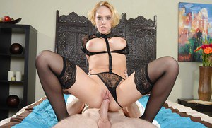 Blonde girl with big tits Kagney Linn Karter has her ass fucked hardcore
