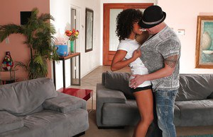Ebony cowgirl Misty Stone has her milf pussy and ass licked out