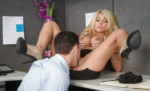 Kayla Kayden was fucked in her ideal juicy ass in the office