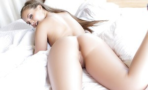 Long-haired beauty Mandy Kay is showing off her sweet naked body