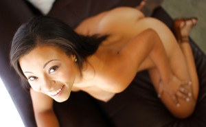 Ebony with pretty face Adrian Maya is taking off her lingerie