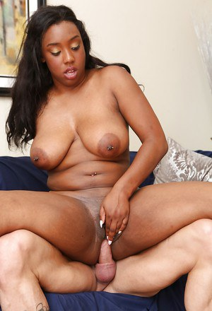 Very busty black beauty Lisa Tiffian is riding on the hard dong!