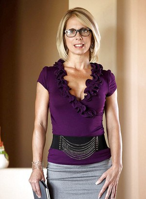 Short-haired blonde Jenny Mason is playing with small boobies