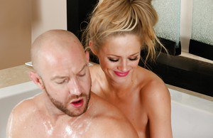 Massage milf Katie Kox is getting a nice dick deep in her mouth