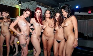 Hardcore party with lots of slender sluts and giant wide cocks
