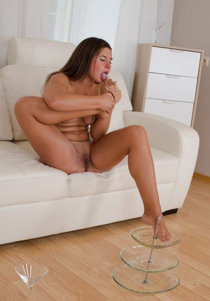 Stunning Nataly is pissing and swallowing her lovely tasty urine