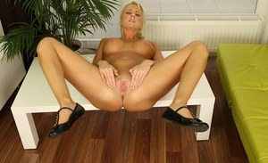 Stunning Chloe Deluxe is masturbating her tight shaved pussy on cam