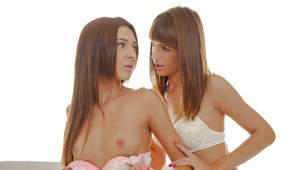 Alexis Bril and lesbian teen Carol Vega are humping in 69 pose