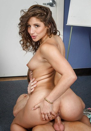 Coed Abella Danger gives head and swallowing big sperm load!