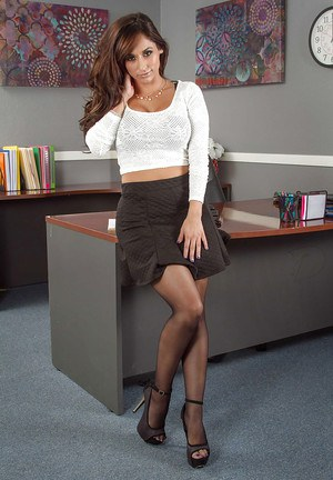 Hottest office milf Reena Sky is demonstrating her nice big tits