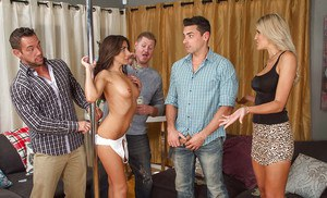 Milfs Audrey Show & Brittany Bliss are screwing this hardcore hunk
