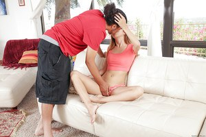 Amateur Asian teen Mila Jade is banging in doggy style position